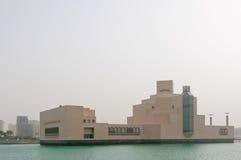 Sandstorm in Doha, Museum of Islamic Art, Qatar stock photo