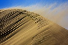Sandstorm on dune Royalty Free Stock Photo