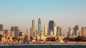 Sandstorm i Dubai stock video