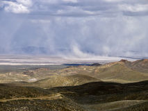Sandstorm in the Northern Nevada Desert Royalty Free Stock Photography
