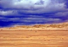 Sandstorm på en strand Fotografering för Bildbyråer