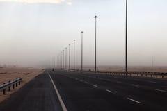 Sandstorm in Qatar Stock Images