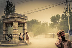 Sandstorm in Shigar Royalty Free Stock Photo