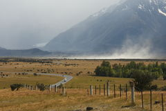 Sandstorm in Southern Alps Stock Image