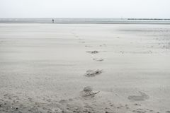 Sandstrand in Dunkerque, Frankreich Lizenzfreie Stockfotografie