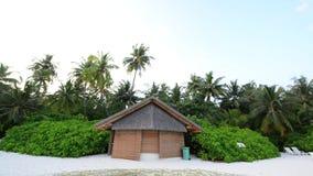 Sandstrand männliches Südatoll maldives stock footage