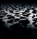 Sandstrand nachts Lizenzfreies Stockfoto
