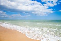 Sandstrand von adriatischem Meer Stockfotos