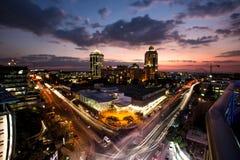 Sandton, Johannesburg, Gauteng, Zuid-Afrika stock fotografie