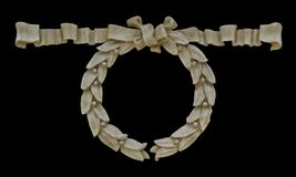 Sandtone Wreath Isolated With Clipping Path Royalty Free Stock Photo