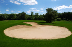 Sandtrap. A sandtrap at a golf couse Royalty Free Stock Image