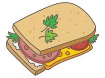 Sanduíche ilustração stock