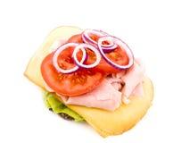 Sanduíche caseiro no fundo branco Foto de Stock