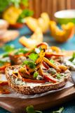 Sanduíche com abóbora grelhada Imagem de Stock