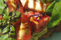 Sanduíche com abacate e tomate Imagem de Stock Royalty Free