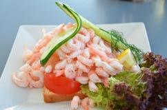 Sanduíche com camarão Fotos de Stock Royalty Free