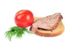 Sanduíche com carne do assado Fotos de Stock