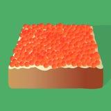 Sanduíche com caviar e manteiga Imagens de Stock Royalty Free
