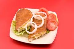 Sanduíche com cebola Foto de Stock
