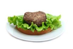 Sanduíche com costoleta fotografia de stock