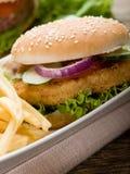Sanduíche com galinha Imagem de Stock Royalty Free