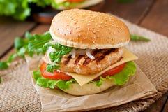 Sanduíche com galinha Foto de Stock
