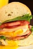 Sanduíche com ovo fritado imagem de stock royalty free