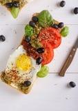 Sanduíche com ovos fotografia de stock royalty free