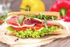 Sanduíche com parma Fotos de Stock Royalty Free