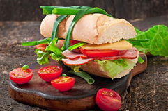 Sanduíche com presunto Fotografia de Stock