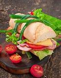 Sanduíche com presunto Fotos de Stock Royalty Free