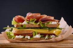 Sanduíche com presunto Imagem de Stock Royalty Free