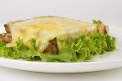 Sanduíche com presunto e queijo Imagens de Stock Royalty Free