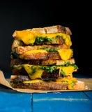 Sanduíche com queijo e alho-porro Fotografia de Stock Royalty Free