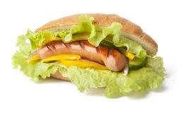 Sanduíche com salsicha Foto de Stock Royalty Free