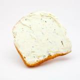 Sanduíche com um queijo processado Fotografia de Stock Royalty Free