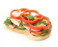 Sanduíche com vegetais Imagem de Stock
