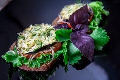 Sanduíche com vegetais Fotos de Stock