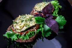 Sanduíche com vegetais Fotografia de Stock