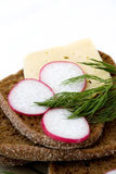 Sanduíche com vegetal imagem de stock royalty free