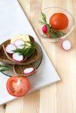 Sanduíche com vegetal imagens de stock