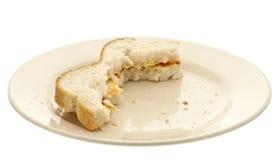 Sanduíche comido metade Fotos de Stock Royalty Free