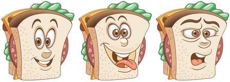 Sanduíche Conceito do alimento de petisco ilustração do vetor