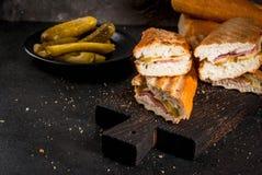 Sanduíche cubano tradicional foto de stock