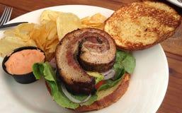 Sanduíche da barriga de carne de porco Fotos de Stock