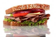 Sanduíche da carne do assado fotografia de stock royalty free