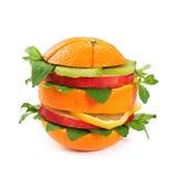 Sanduíche da fruta Fotos de Stock Royalty Free