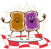 Sanduíche da geléia da manteiga de amendoim Foto de Stock Royalty Free