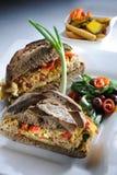 Sanduíche da salada fotos de stock royalty free