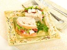 Sanduíche da salada da galinha Fotos de Stock Royalty Free